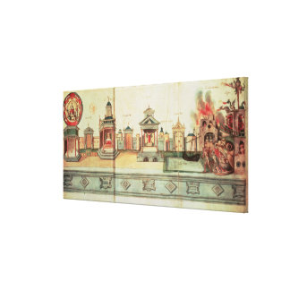 The Scenery for Valenciennes Mystery Play Canvas Print