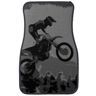 """The Scenic Route"" Motocross Rider Car Floor Mat"