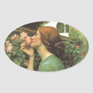 The Scent of Roses Oval Sticker