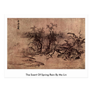 The Scent Of Spring Rain By Ma Lin Post Cards