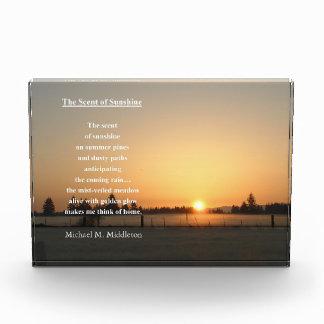 The Scent of Sunshine Acrylic Award