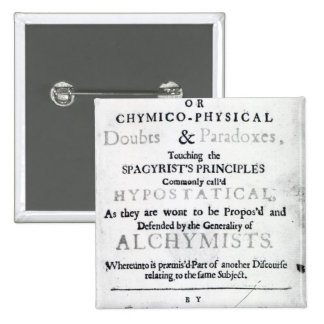 'The Sceptical Chymist' Pinback Buttons