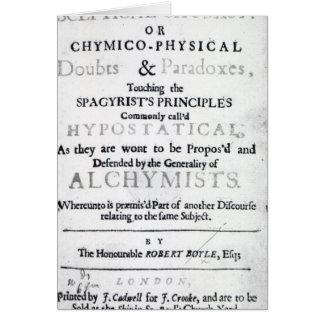 'The Sceptical Chymist' Card