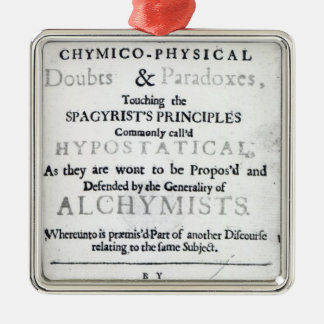 'The Sceptical Chymist' Ornaments