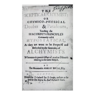 'The Sceptical Chymist' Posters
