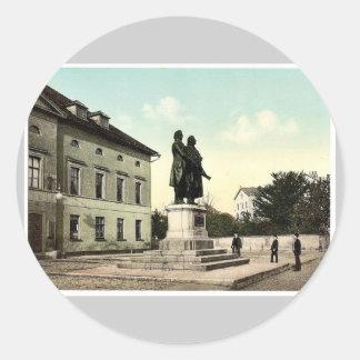 The Schiller and Goethe Monument Weimar Thuringi Sticker