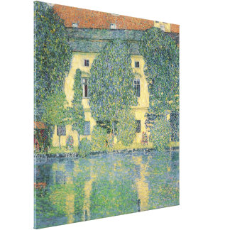 The Schloss Kammer on the Attersee III, 1910 Canvas Print