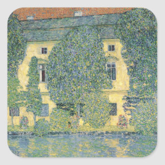 The Schloss Kammer on the Attersee III, 1910 Square Sticker