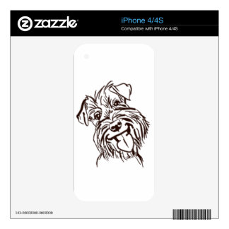 The Schnauzer Love of My Life iPhone 4 Decals