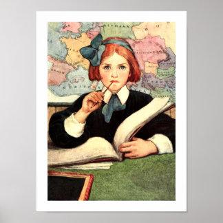 """""""The Scholar"""" by Jessie Wilcox Smith Posters"""