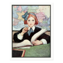 The Scholar by Jessie Willcox Smith Postcard