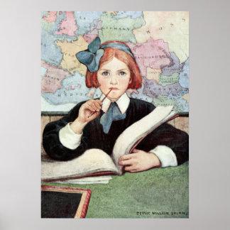 The Scholar by Jessie Willcox Smith Poster