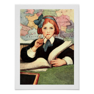 """The Scholar"" by Jessie Willcox Smith Posters"
