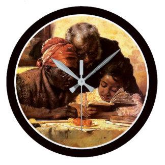 The Scholar - Harry Roseland Large Clock