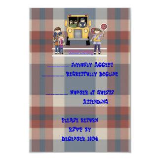 The School Crossing 3.5x5 Paper Invitation Card
