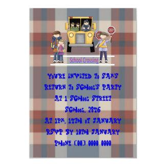 The School Crossing 5x7 Paper Invitation Card