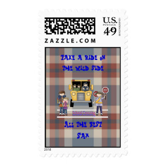 The School Crossing Postage Stamp