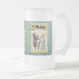The School for Scandal Frosted Glass Beer Mug