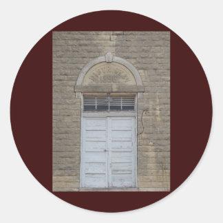 The School House Door Round Sticker