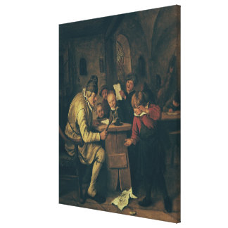 The School Master, 1626-79 Canvas Print
