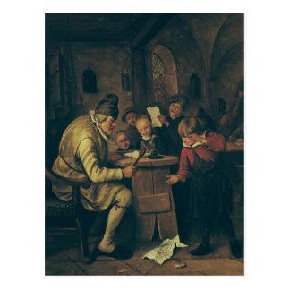 The School Master, 1626-79 Postcard