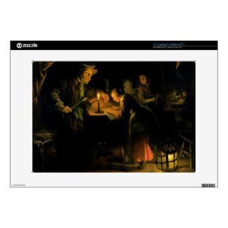"""The School Master, 1660-65 (oil on panel) Decal For 15"""" Laptop"""