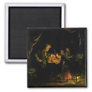 The School Master, 1660-65 (oil on panel) Magnet