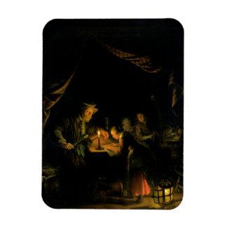 The School Master, 1660-65 (oil on panel) Rectangular Photo Magnet