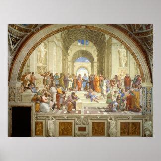 The School of Athens Fresco by Raffaello Sanzio Poster