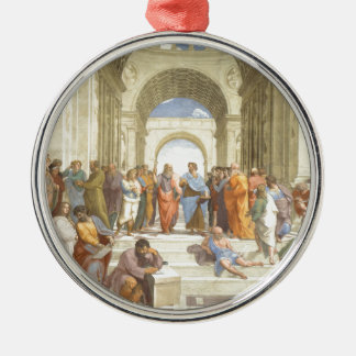 The School of Athens Metal Ornament