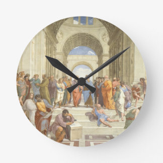 The School of Athens Round Clock