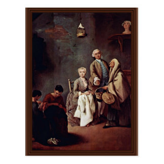 The School Of Labor By Longhi Pietro (Best Quality Postcard