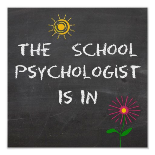 The School Psychologist Is In Poster