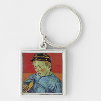 The Schoolboy, 1889-90 Silver-Colored Square Keychain