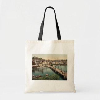 The Schweizerhof Quay, and New Bridge, Lucerne, Sw Bags