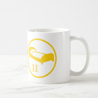 """The """"science deprives me of my bed"""" badge LEVEL II Coffee Mug"""