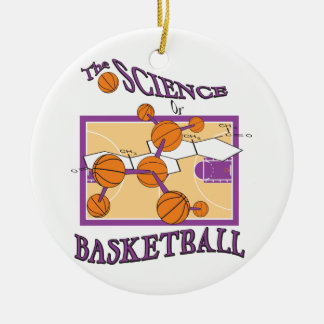 the science of basketball Double-Sided ceramic round christmas ornament