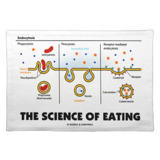 The Science Of Eating (Endocytosis Biology Humor) Cloth Placemat