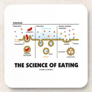 The Science Of Eating (Endocytosis Biology Humor) Coasters