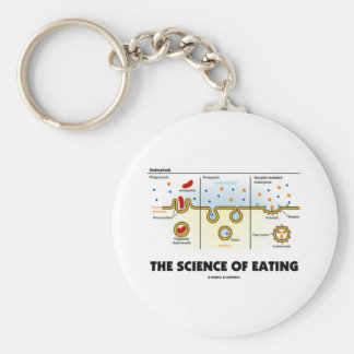 The Science Of Eating (Endocytosis Biology Humor) Key Chain