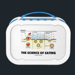 """The Science Of Eating (Endocytosis Biology Humor) Lunch Box<br><div class=""""desc"""">Educational biological humor comes alive at mealtime with this lunchbox featuring endocytosis. Featuring the three forms of endocytosis: phagocytosis,  pinocytosis,  and receptor-mediated endocytosis. Biological attitude lunchbox gift for anyone who desire to know about digestion at the cellular level - i.e. &quot;The Science Of Eating&quot;!</div>"""