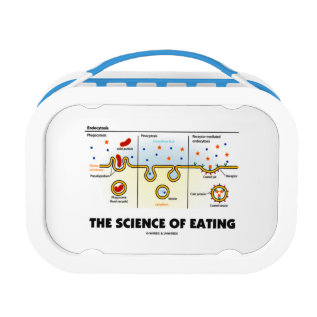 The Science Of Eating (endocytosis Biology Humor) Lunch Box at Zazzle