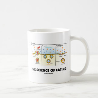 The Science Of Eating (Endocytosis Biology Humor) Classic White Coffee Mug