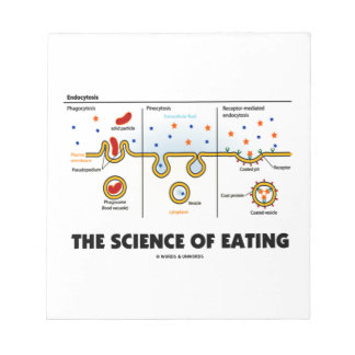 The Science Of Eating (Endocytosis Biology Humor) Note Pads