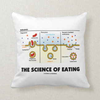 The Science Of Eating (Endocytosis Biology Humor) Throw Pillow