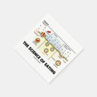 The Science Of Eating (Endocytosis Biology Humor) Standard Cocktail Napkin