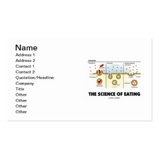 The Science Of Eating (Endocytosis) Double-Sided Standard Business Cards (Pack Of 100)
