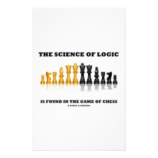 The Science Of Logic Is Found In The Game Of Chess Stationery