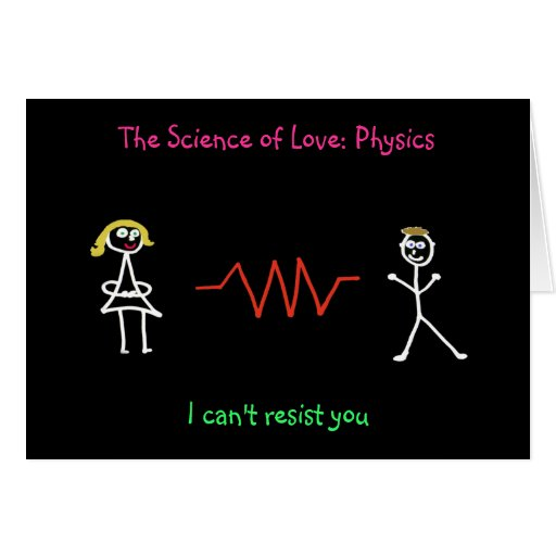 'The Science of Love:Physics' Card (Female - Male)