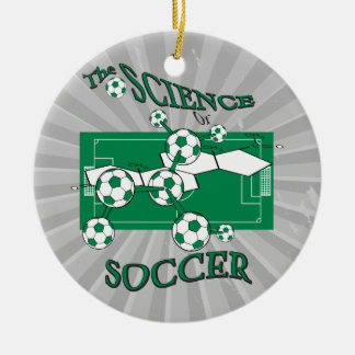 the science of soccer Double-Sided ceramic round christmas ornament